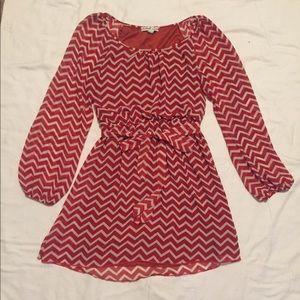 Accidentally in Love Red/White Stripe Dress Size L